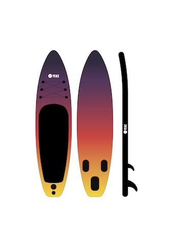 YEAZ Inflatable SUP-Board »SUNSET BEACH MSL«, (5 tlg.), inkl. Alu-Paddel, Handpumpe, Repair-Kit und Rucksack kaufen