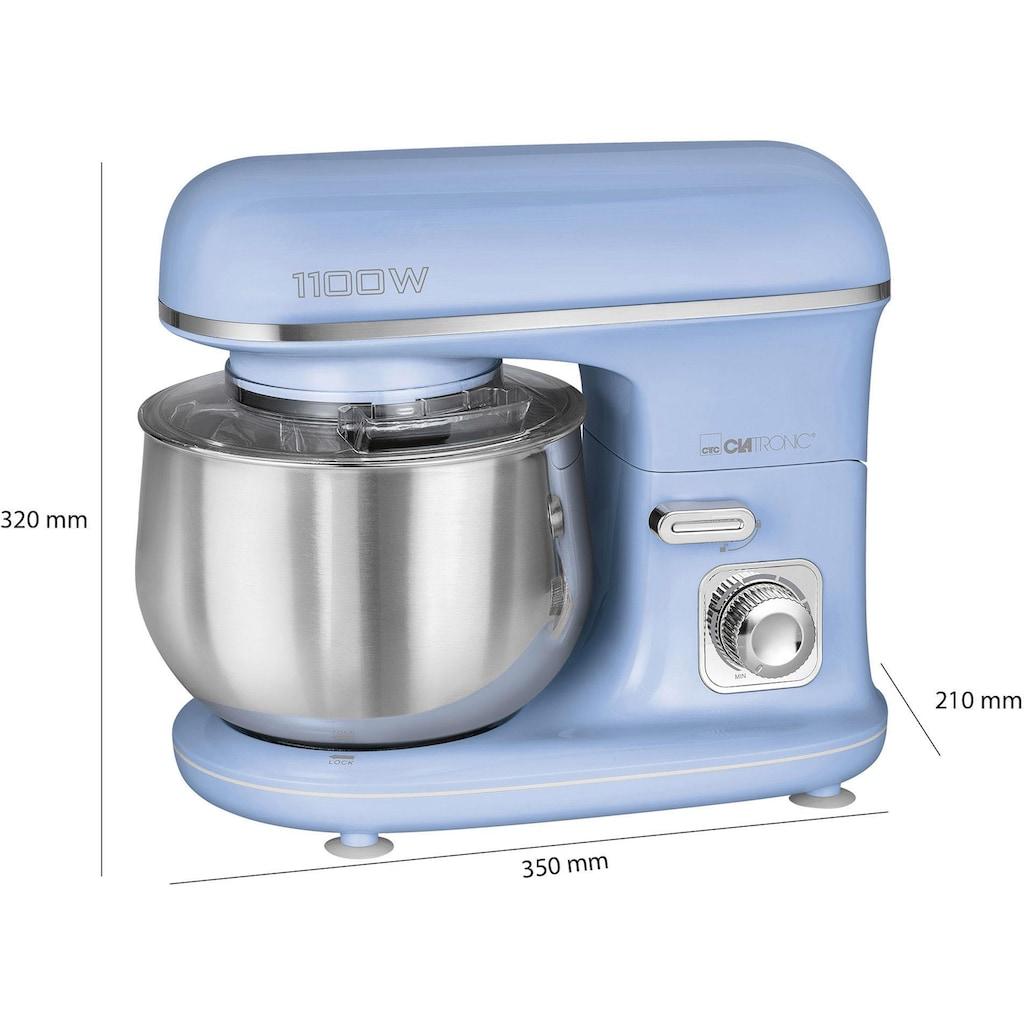 CLATRONIC Küchenmaschine »KM 3711 blau«, 1100 W, 5 l Schüssel
