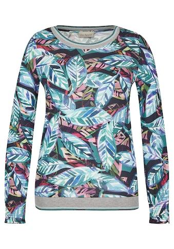 VIA APPIA Fröhliches Shirt mit Blatt-Design Plus Size kaufen