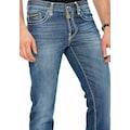 Cipo & Baxx Straight-Jeans, Markante Nähte