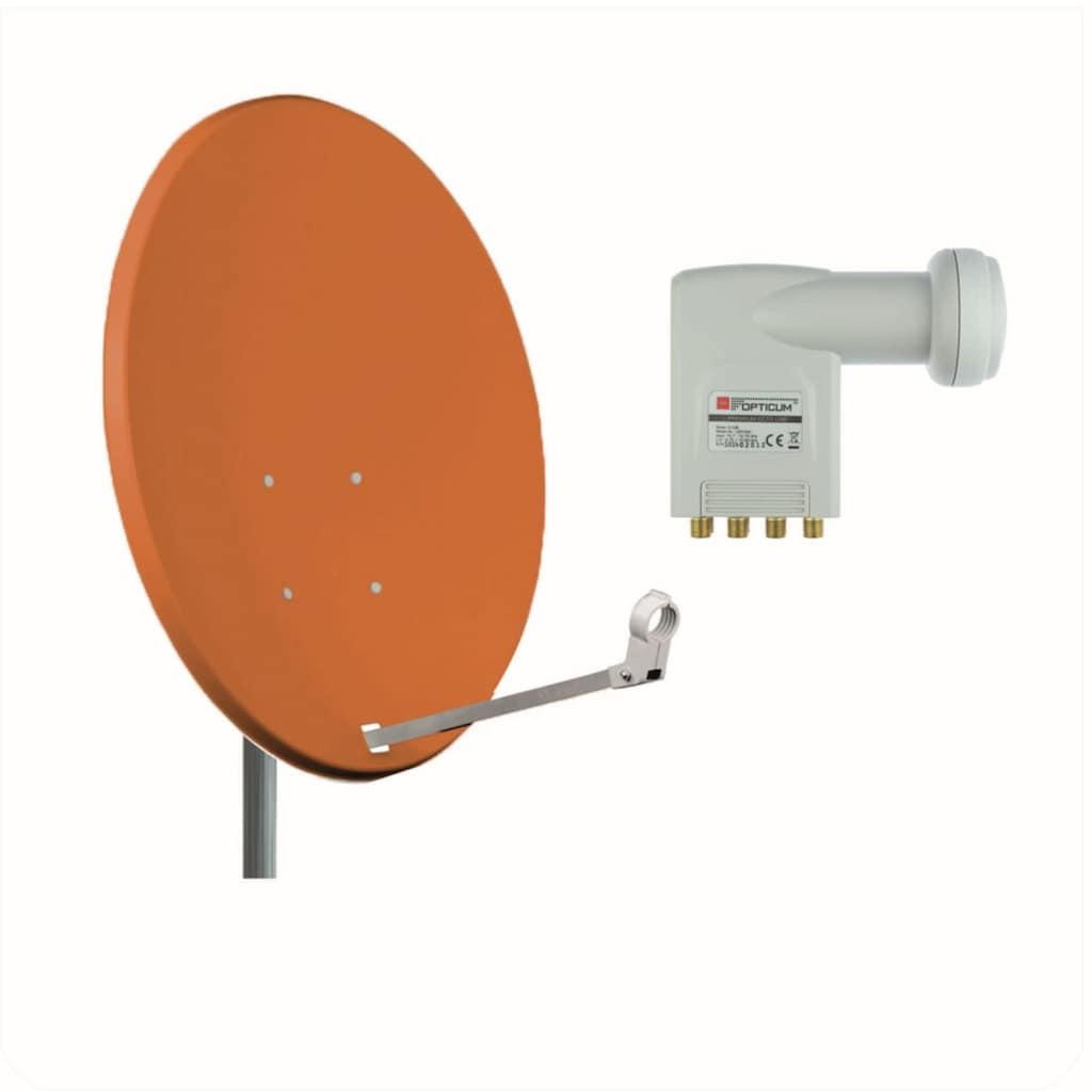 Opticum Red Sat-Spiegel »X80 Stahl mit Octo LNB Sat Anlage«