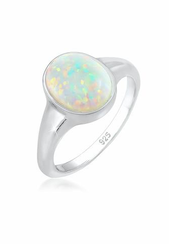 Elli Fingerring »Siegelring Mondstein Oval 925 Silber« kaufen