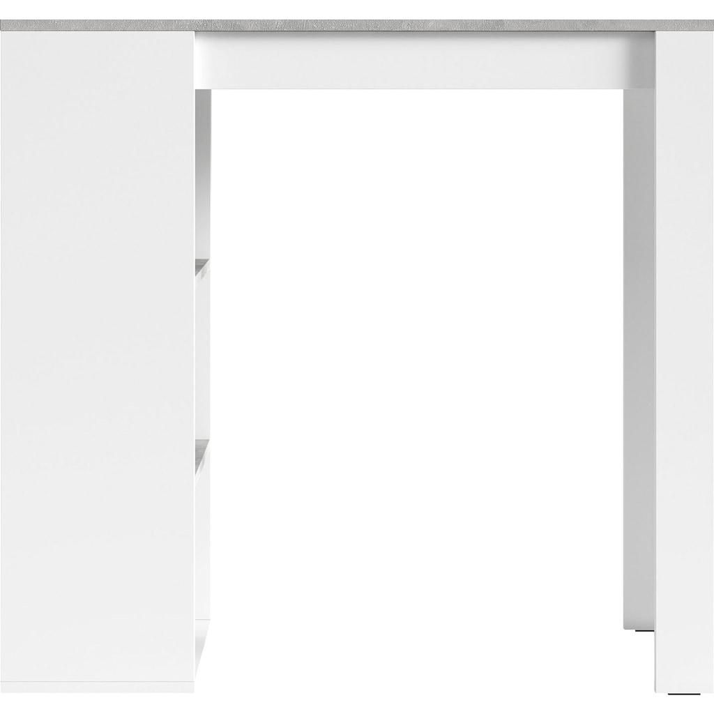 Homexperts Bartisch »Momo«, Breite 110 cm mit Regalfächern