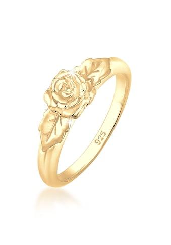 Elli Fingerring »Rosenblüte Blume Vintage Look Trend 925 Silber« kaufen