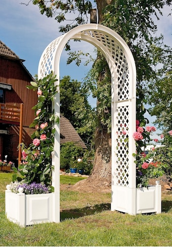 Rosenbogen inkl. 2 Pflanzkästen, weiß kaufen