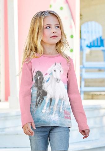 Miss Melody Langarmshirt »MISS MELODY«, mit schönem Pferdemotic kaufen