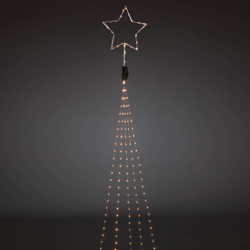 KONSTSMIDE LED Baummantel mit Top-Stern