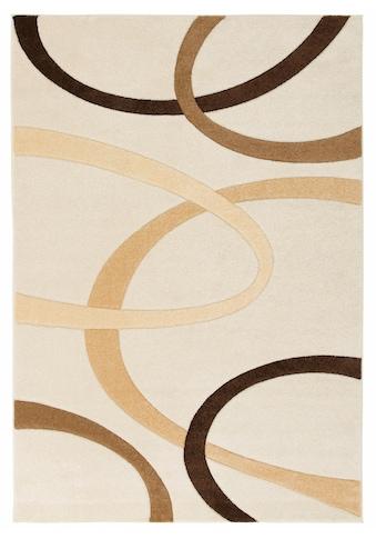 my home Teppich »Bill«, rechteckig, 10 mm Höhe, mit Handgearbeiteten Konturenschnitt,... kaufen