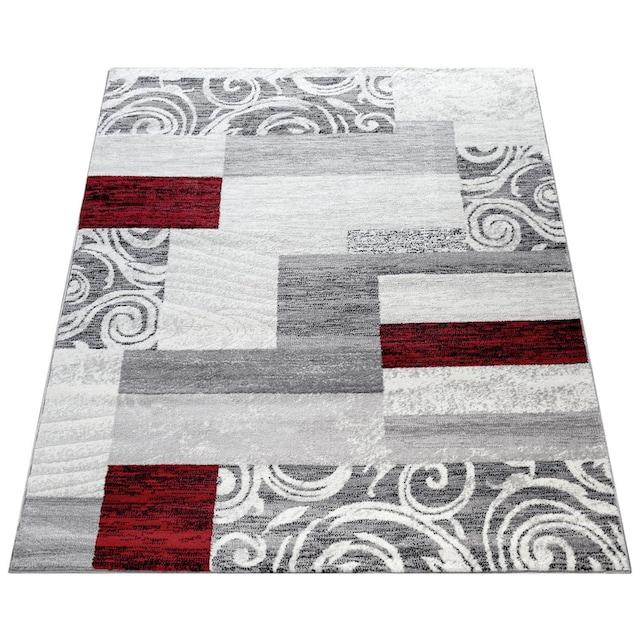 Paco Home Teppich »Sinai 053«, rechteckig, 9 mm Höhe, karierter Kurzflor mit Ornamenten, Wohnzimmer