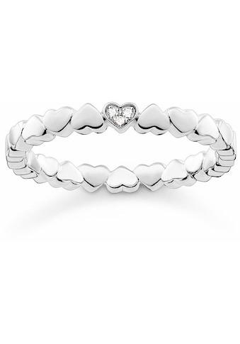 THOMAS SABO Diamantring »Herz, D_TR0013-725-14«, mit Diamanten kaufen