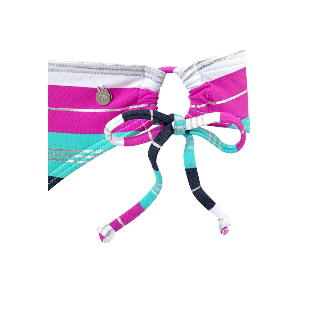 s.Oliver Bügel-Bikini, mit silberfarbenen Glanzstreifen