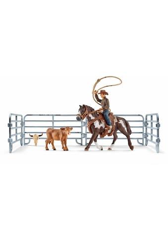 """Schleich® Spielfigur """"Farm World, Team Roping mit Cowboy (41418)"""" kaufen"""