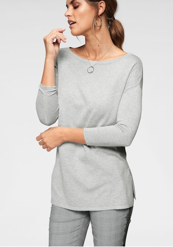 Laura Scott Longpullover, mit Seitenschlitzen - NEUE FARBEN kaufen
