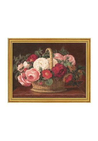 Home affaire Bild »Rosen im Korb«, 79,6/59,6 cm, gerahmt kaufen