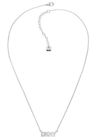 DKNY Kette mit Anhänger »Pave Logo Pendant NK (RH), 5519994«, mit Swarovski® Kristallen kaufen