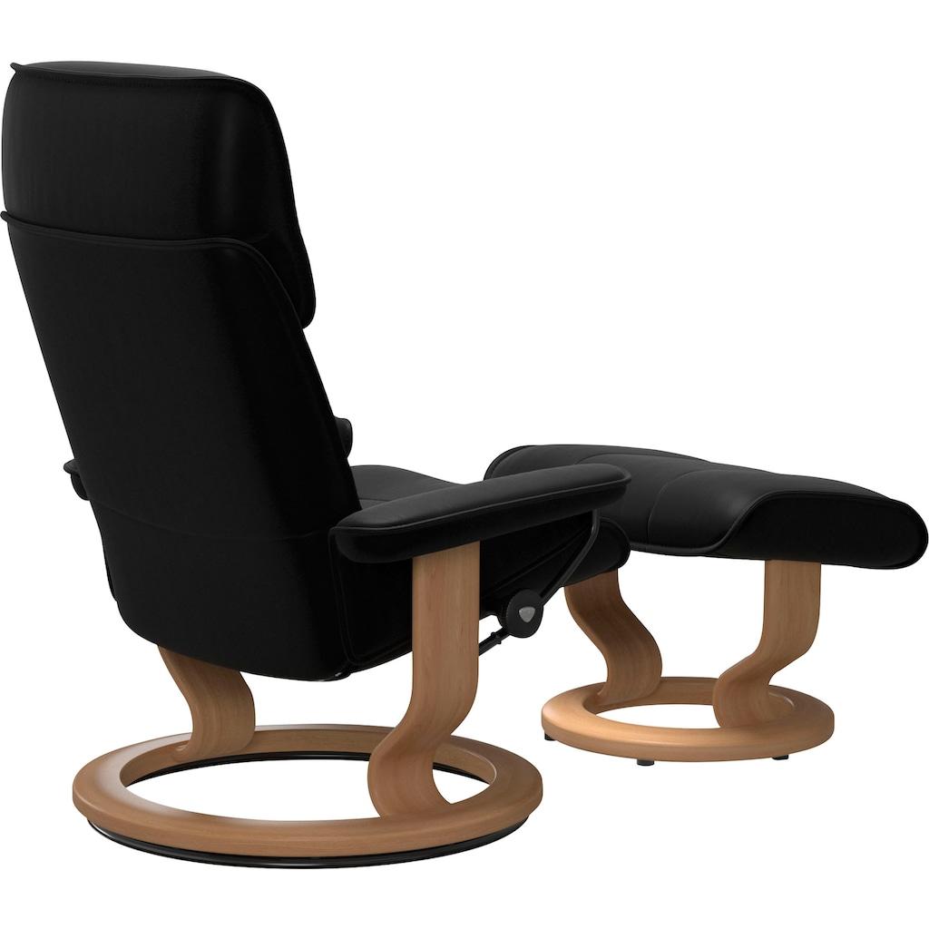 Stressless® Relaxsessel »Admiral«, mit Hocker, mit Classic Base, Größe M & L, Gestell Eiche