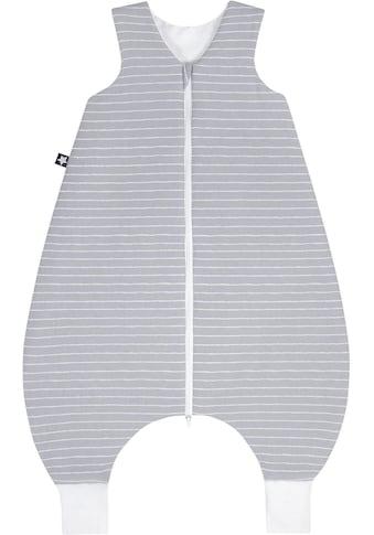 Julius Zöllner Babyschlafsack, mit Beinen Jersey Jumper Grey Stripes kaufen