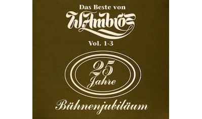 Musik-CD »Gold Edition Zum 25 Jährigen Bühnenjubiläum / Ambros,Wolfgang« kaufen