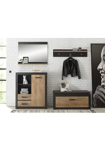 my home Garderoben-Set »BRÜGGE«, (Komplett-Set, bestehend aus Garderobenbank und... kaufen