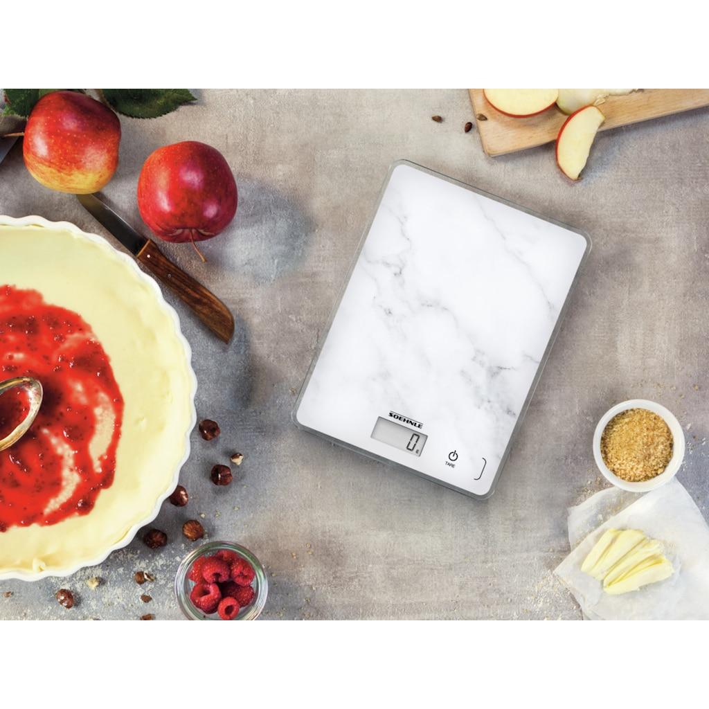 Soehnle Küchenwaage »Page Compact 300 Marble«, Tragkraft 5 kg, 1 g genaue Teilung