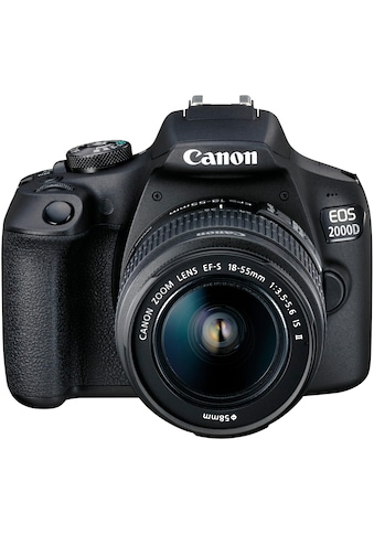 Canon »EOS 2000D EF - S 18 - 55 IS II Value Up Kit« Spiegelreflexkamera (EF - S 18 - 55 IS II, 24,1 MP, NFC WLAN (Wi - Fi)) kaufen