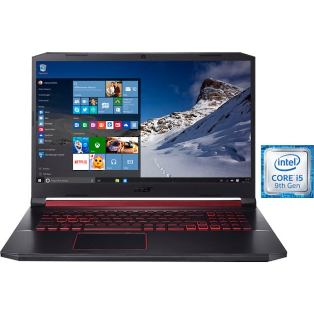 Acer Nitro 5 AN517-51-55EM Notebook (43,94 cm / 17,3 Zoll, Intel,Core i5, - GB HDD, 512 GB SSD)