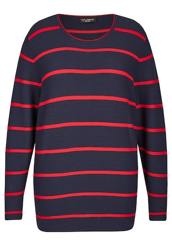 VIA APPIA DUE Moderner Pullover mit Ringel-Muster Plus Size kaufen