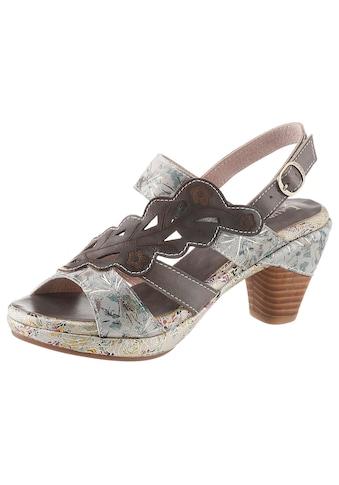 LAURA VITA Sandalette »Beclforto«, mit verstecktem Klettverschluss unter der... kaufen