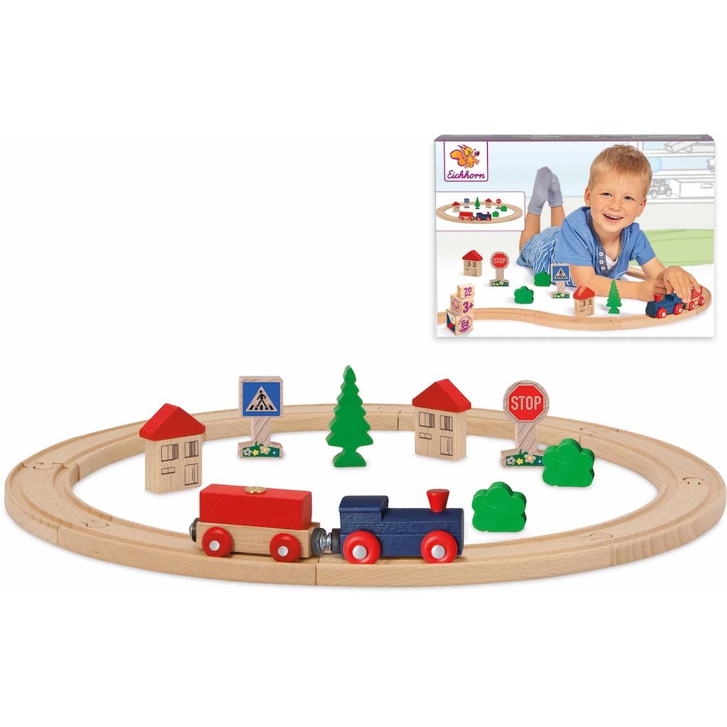 Eichhorn Spielzeug-Eisenbahn »Kreis, 20-tlg.«, aus Holz; Made in Europe