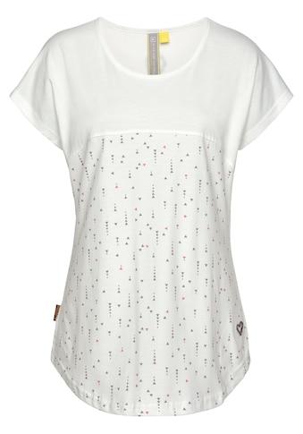 Alife & Kickin T-Shirt »ClaraAK«, im Two-in-one-Look mit Allover- Miniprint kaufen