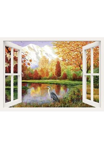 Home affaire Leinwandbild »S., A.: Herbst am See«, 100/70 cm kaufen