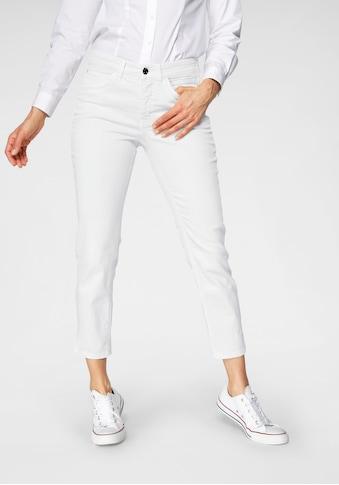 MAC 7/8-Jeans »Angela Summer Leaf«, Verkürzte Form mit Stickerei am Bund kaufen