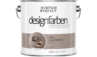 SCHÖNER WOHNEN FARBE Farbe »Designfarben«, Edles Kaschmirbraun Nr. 8, feinmatt 2,5 l kaufen