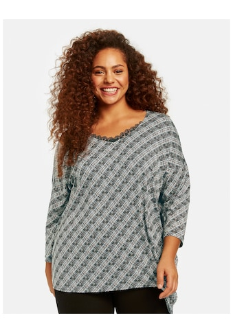 Samoon Rundhalsshirt »Shirt mit Karomuster EcoVero« kaufen