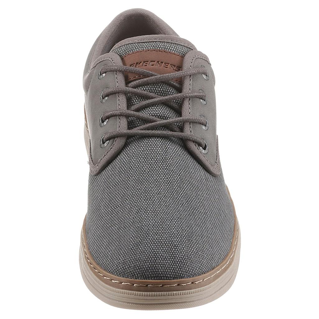 Skechers Schnürschuh »HESTON«, im modischen Materialmix