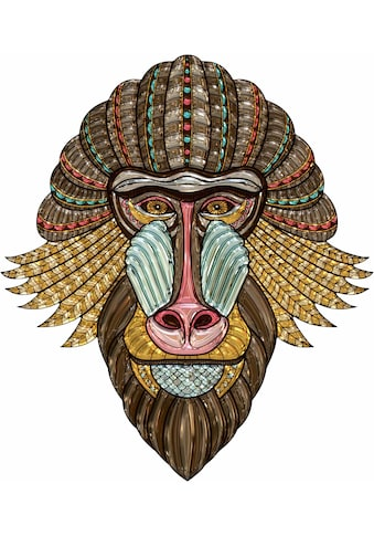 Wall-Art Wandtattoo »Metallic Mandrill« kaufen