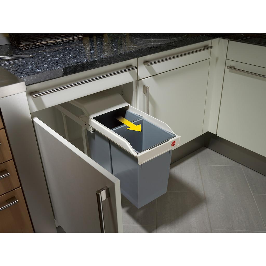 Hailo Einbaumülleimer »Multi-Box Duo L«, grau, Fassungsvermögen ca. 2x 14 Liter