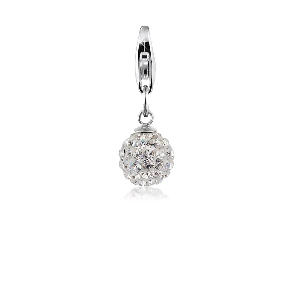 Nenalina Charm-Einhänger »Anhänger Ball Kristalle 925 Silber«