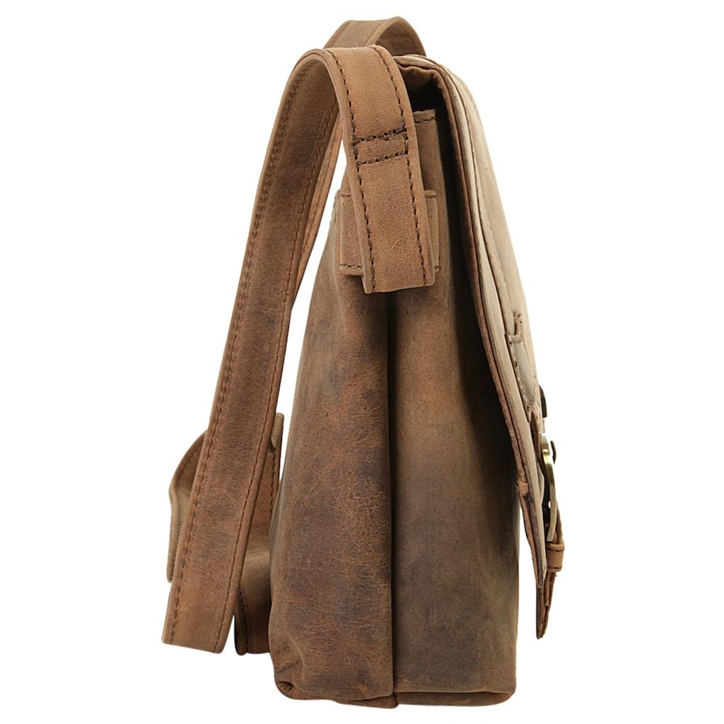 Harold's Messenger Bag »ANTIC«, vegetabil gegerbt