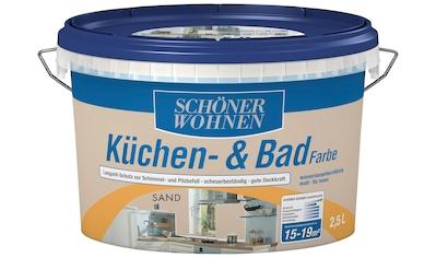 SCHÖNER WOHNEN FARBE Feuchtraumfarbe »Küche/Badfarbe, sand«, 2,5 l kaufen