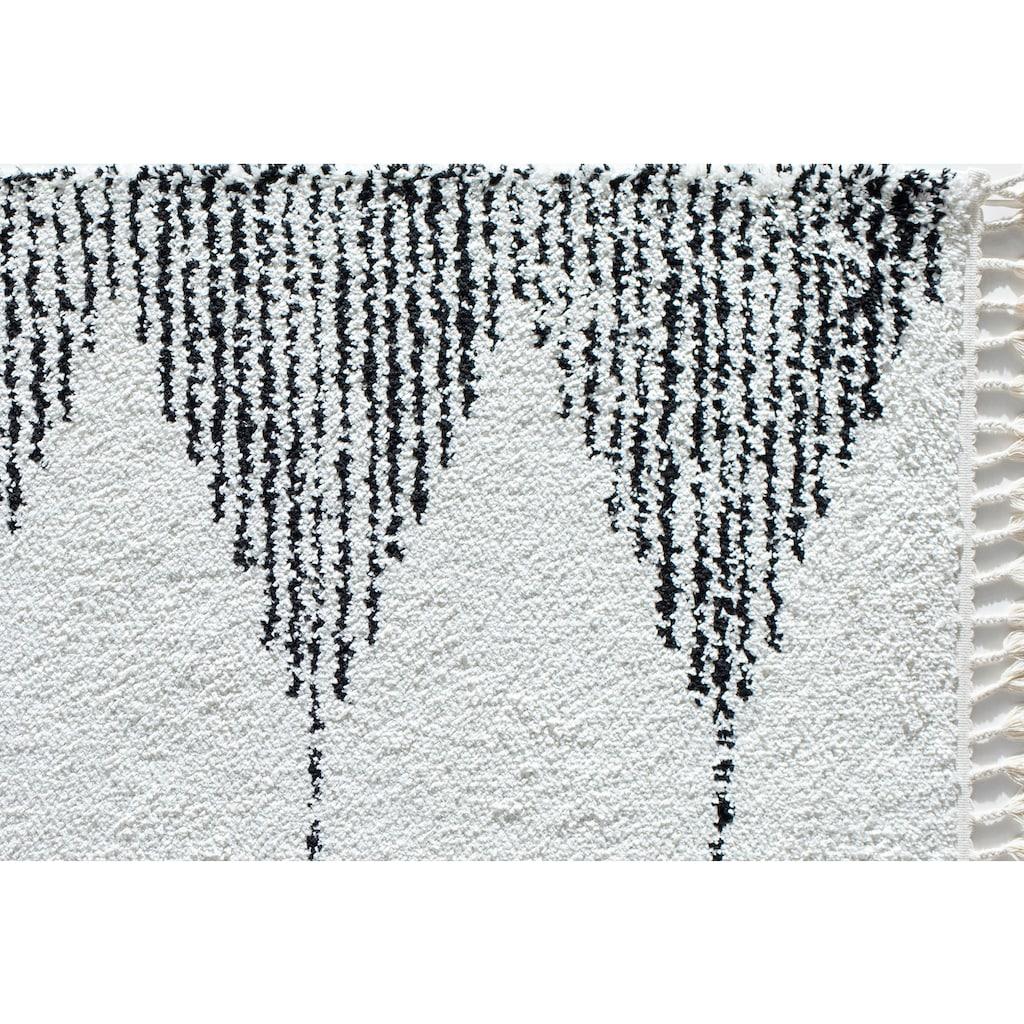 CosmoLiving by Cosmopolitan Teppich »Mason Shag Heath«, rechteckig, 22 mm Höhe, mit Fransen, Wohnzimmer