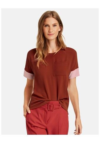 GERRY WEBER Kurzarmshirt »Shirt mit Kontrastdetails« kaufen