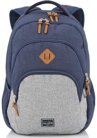 travelite Cityrucksack »Basics Melange, marine/grau«, mit Laptopfach kaufen