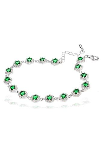 goldmaid Damenarmband 925 Silber mit grünen Zirkonia kaufen