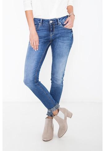 ATT Jeans 7/8-Jeans »Leoni«, mit Fransenborte am Saum kaufen