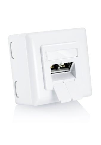 CSL Cat6 2 - Port Universal Gigabit/Ethernet Netzwerkdose »Kombidose (Unterputz/Aufputz) / 2x RJ45« kaufen