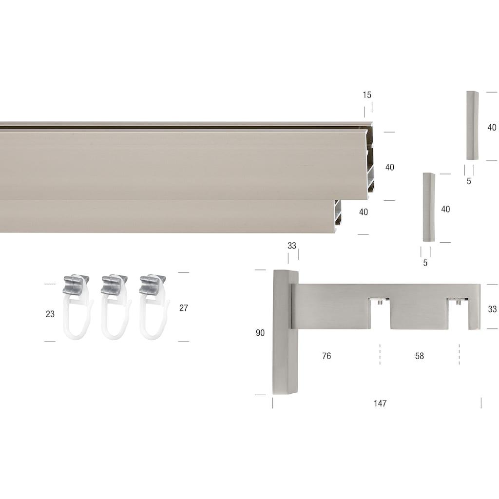 GARESA Innenlaufschiene »Flat«, 2 läufig-läufig, Wunschmaßlänge