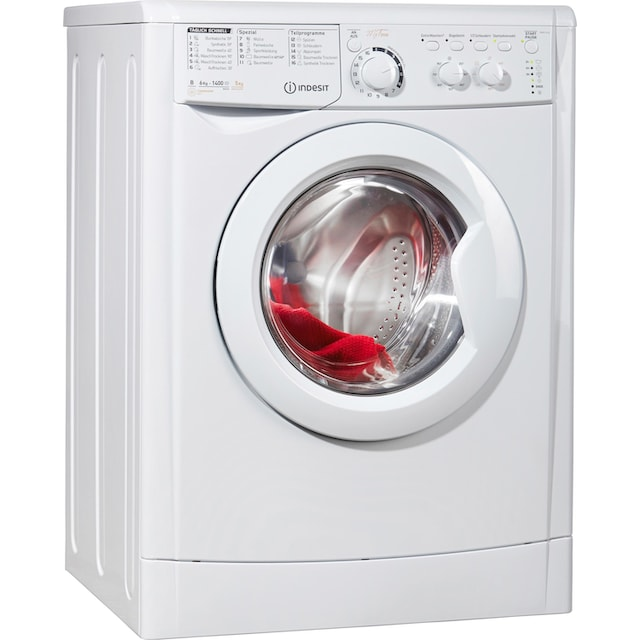 Indesit Waschtrockner EWDC 6145 W DE, 6 kg / 5 kg, 1400 U/Min