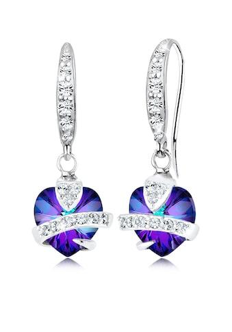 Elli Paar Ohrhänger »Hänger Herz Symbol Kristalle 925 Silber« kaufen