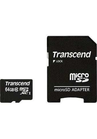 Transcend »microSDXC/SDHC Class 10 + SD - Adapter« Speicherkarte kaufen